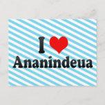 I Love Ananindeua, Brazil Postcard