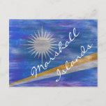 Marshall Islands distressed flag Postcard