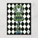 Jinxy Harlequin Pixie Stick Jester Fairy Postcard