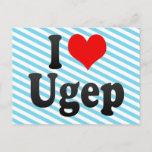 I Love Ugep, Nigeria Postcard