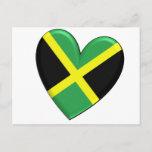 Jamaican Heart Flag Postcard