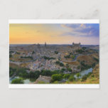 Sunset view of Toledo Spain Postcard