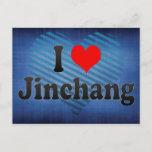 I Love Jinchang, China Postcard