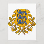 Estonia Coat of arms EE Postcard