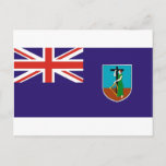 Montserrat flag postcard
