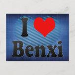 I Love Benxi, China. Wo Ai Benxi, China Postcard
