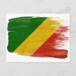 Congo Republic Flag Postcards