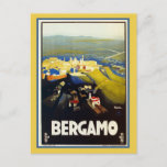 Vintage 1920s Bergamo Italian travel Postcard