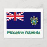 Pitcairn Islands Flag with Name Postcard