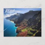 Na Pali Coastline on the Island of Kauai, Hawaii Postcard