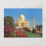 Vintage, India, Agra, Taj Mahal Postcard