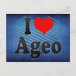 I Love Ageo, Japan Postcard