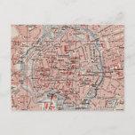 Vintage Map of Braunschweig Germany (1905) Postcard