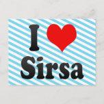 I Love Sirsa, India. Mera Pyar Sirsa, India Postcard