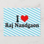 I Love Raj Nandgaon, India Postcard