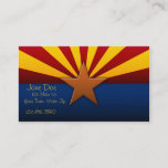 Arizona State Flag Business Cards