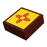 New Mexico State Flag Jewelry Box