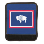 Wyoming State Flag Design Luggage Handle Wrap