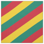 Red, green and yellow  striped pattern fabric