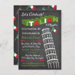 Italian Tower of Pisa Rehearsal Dinner Birthday Card