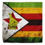 Black Grunge Zimbabwe Flag Bandana