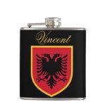 Albania Flag Flask