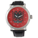 Albania Flag Wrist Watch