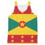 Grenadian flag All-Over-Print tank top