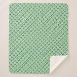 Zzzzzz Green Sherpa Blanket
