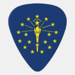 Patriotic guitar pick with Flag of Indiana