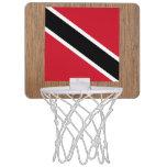Retro Trinidad and Tobago Flag Mini Basketball Backboard