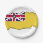 Niue Flag Paper Plate