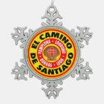 El Camino De Santiago Snowflake Pewter Christmas Ornament