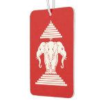 Erawan Three Headed Elephant Lao / Laos Flag Air Freshener