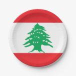 Flag of Lebanon Paper Plates