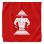 Erawan Three Headed Elephant Lao / Laos Flag Bandana