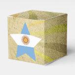Vintage Argentinean Flag Swirl Favor Box