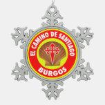 Burgos Snowflake Pewter Christmas Ornament