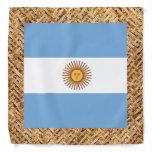 Argentina Flag on Textile themed Bandana