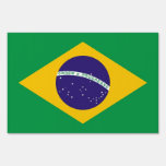 Yard Sign with flag of Brazil