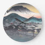 Vesper Bell at Mii Temple, Lake Biwa Large Clock
