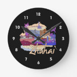 zhuhai city vacation graphic peach.png round clock