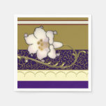 French Limoges Lilies Napkin
