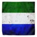 Black Grunge Sierra Leone Flag Bandana