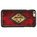 Vintage Grunge State Flag of Arkansas Carved Maple iPhone 6 Plus Case