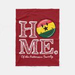 Home Ghana Smiling Flag Housewarming Fleece Blanket