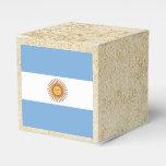 Golden Argentina Flag Favor Box
