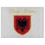 Albania Flag Cutting Board