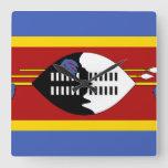 Swaziland Flag Square Wall Clock