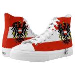 Austria Flag High-Top Sneakers